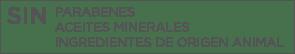 SIN parabenes aceites minerales ingredientes de origen animal farmacia llamaquique oviedo
