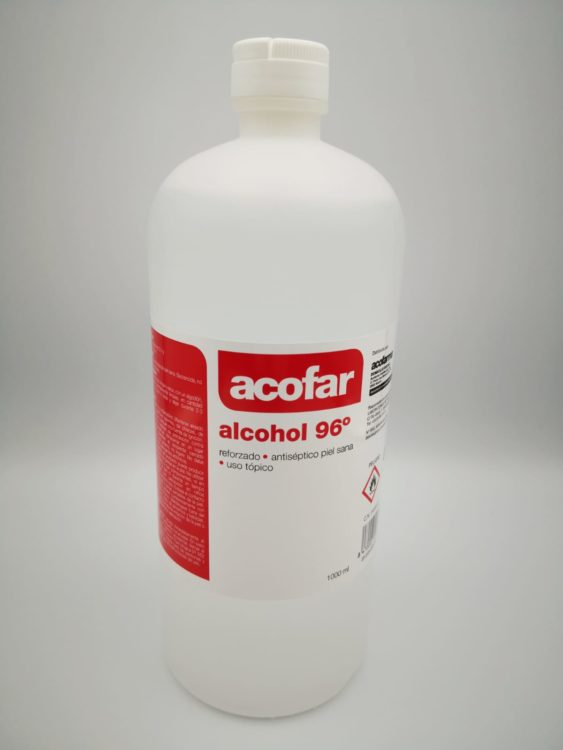 alcohol 96 grados 1000 ml (1 litro)